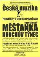 Podvečery s lidovou písničkou v restauraci Měšťanka Hrochův Týnec 1